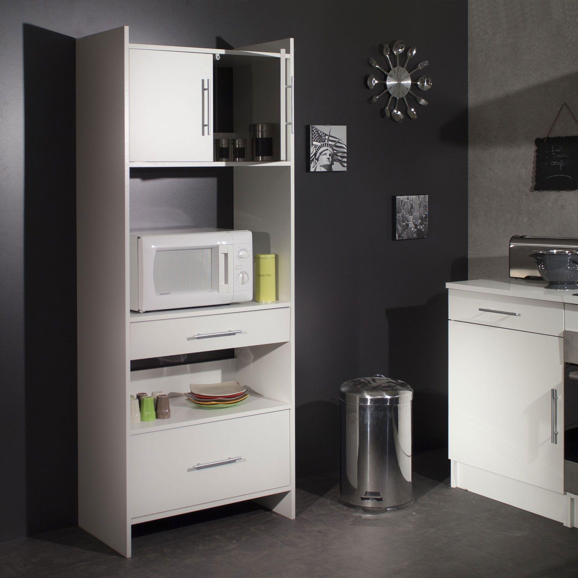 meuble desserte micro ondes l70xp40xh170cm simply meuble. Black Bedroom Furniture Sets. Home Design Ideas