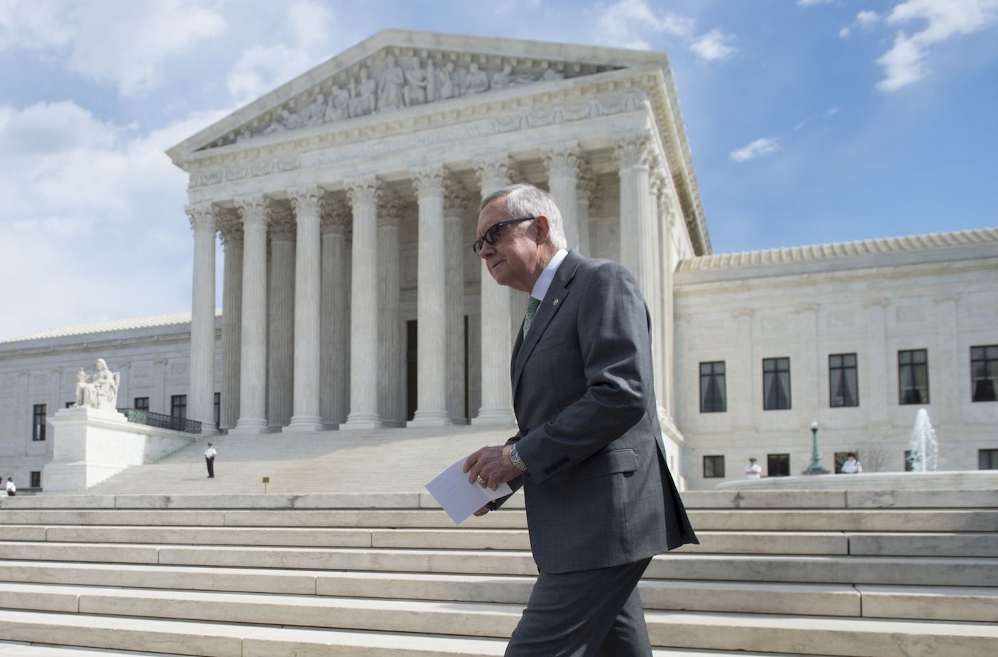 Senate Minority Leader Harry Reid told reporters Tuesday that Democrats have a few tricks up their sleeves to force a vote on President Barack Obama's Supreme Court nominee.