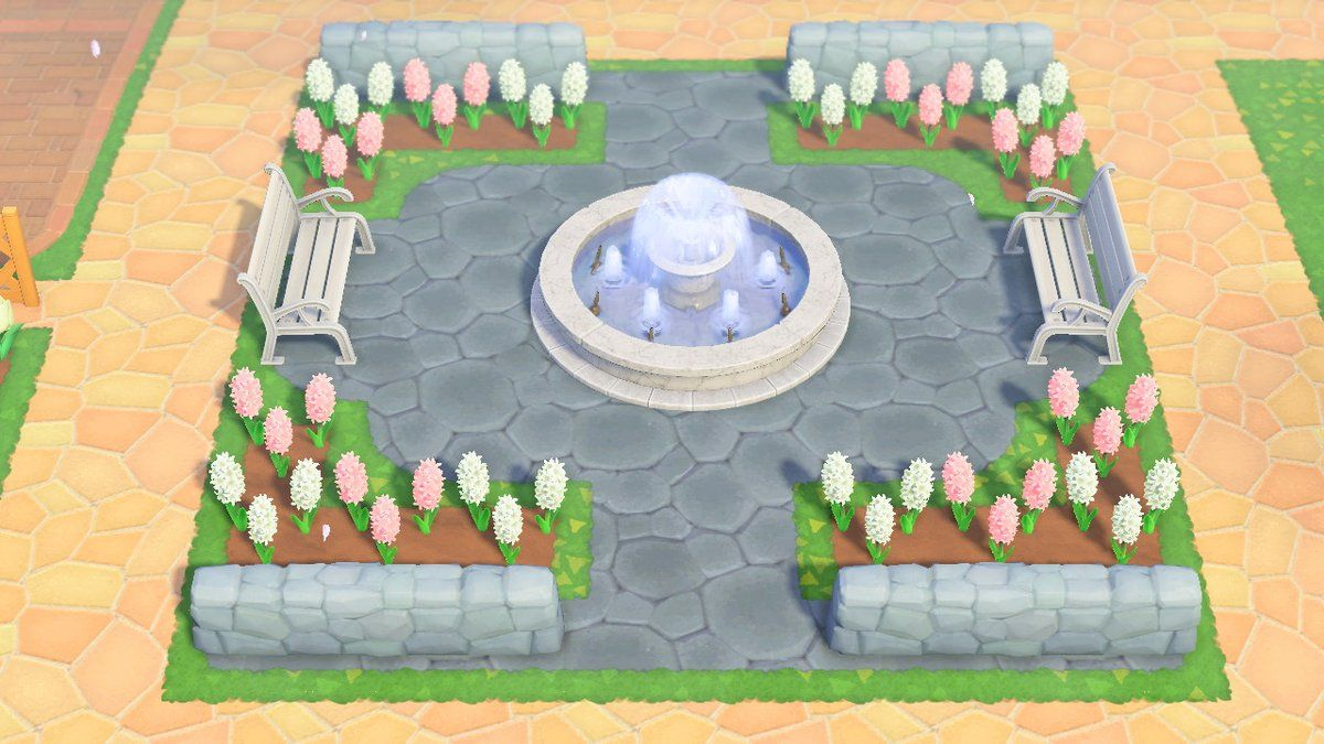 rebecca on Twitter how i built my fountain areas ♡