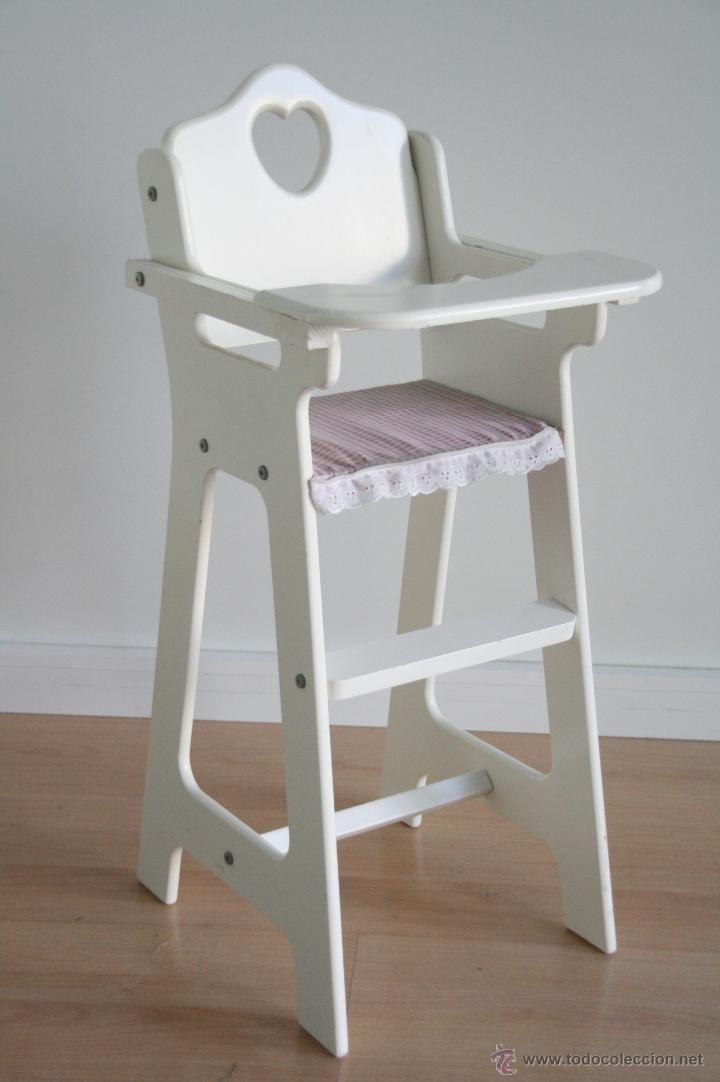 Bonita Trona Silla De Madera Lacada Blanca Para Comer Muñeca Juguetes Vestidos Y Accesorios Muñeca Esp Sillas De Madera Muebles Para Bebe Muebles Para Niños