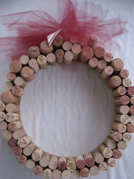 Corks Float  Handmade Wine Cork Wreath with by CarlasCraft on Etsy, $35.00
