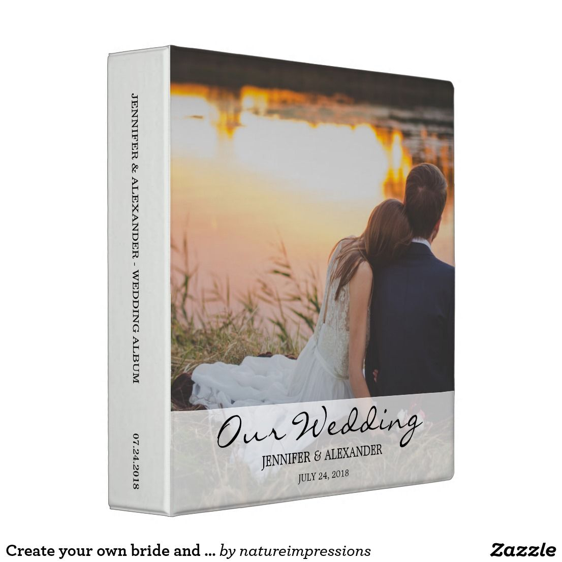Create Your Own Bride And Groom Photo Wedding 3 Ring