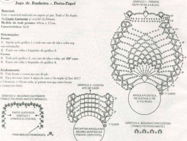 Delicadezas en crochet Gabriela: Juego de baño completo en crochet ...