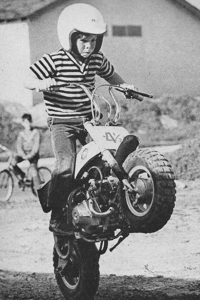 1971-1972) - Jeff Ward racing a Honda 50cc Mini-Bike Ward was de ...