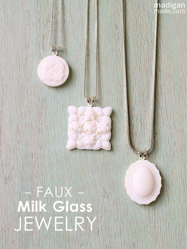 Faux milk glass jewelry pendants i love how easy these are to make faux milk glass jewelry pendants i love how easy these are to make aloadofball Choice Image