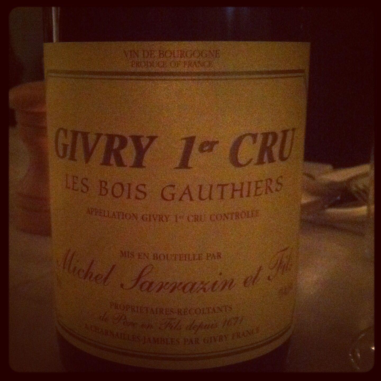 Givry 1er Cru Les bois Gauthiers Michel Sarrazin