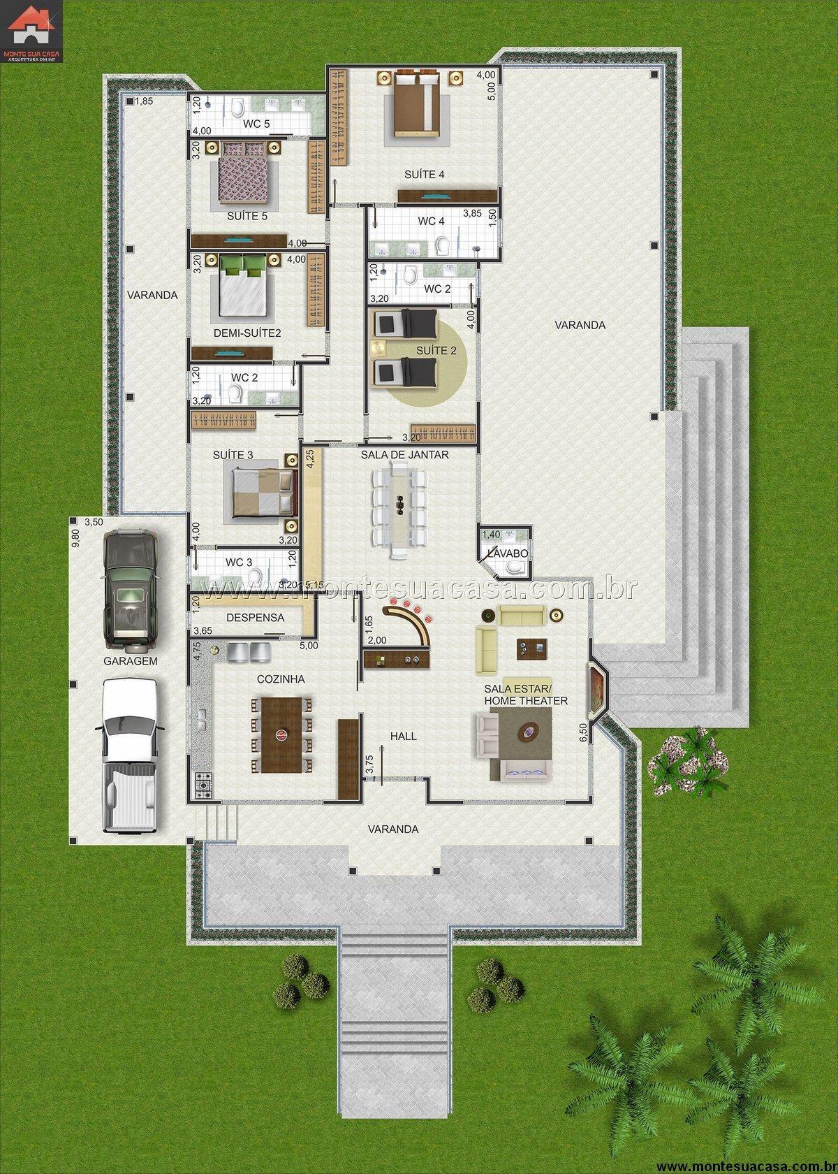Casa 0 quartos arq decor projetos - Casas de campo bonitas ...