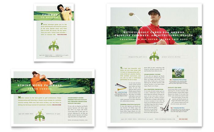 Golf Course And Instruction Flyer And Ad Download Template Http