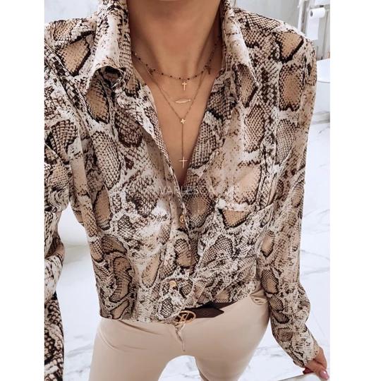 find Marca Snake Print Blouse Blusa para Mujer