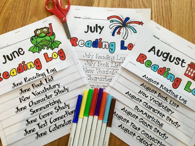 Summer Reading Log FLIP BOOKS are so much fun and so easy for students to use!  Create an incentive for your students to read through the entire summer by asking them to return these reading log flip books in the fall when school begins!