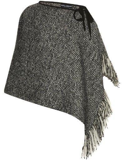 DOLCE & GABBANA Herringbone tweed poncho