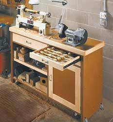 Mini Lathe Stand Workshop Storage In 2019 Lathe Woodworking
