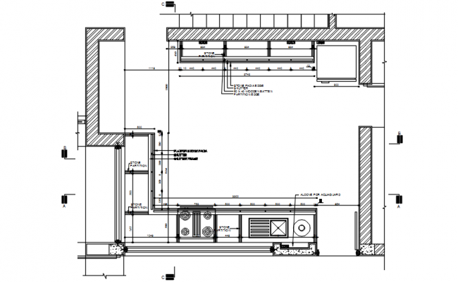 Drawing Of Kitchen Plan With Detail Dimension In Autocad Kitchen Layout Plans Kitchen Plans Kitchen Design Plans