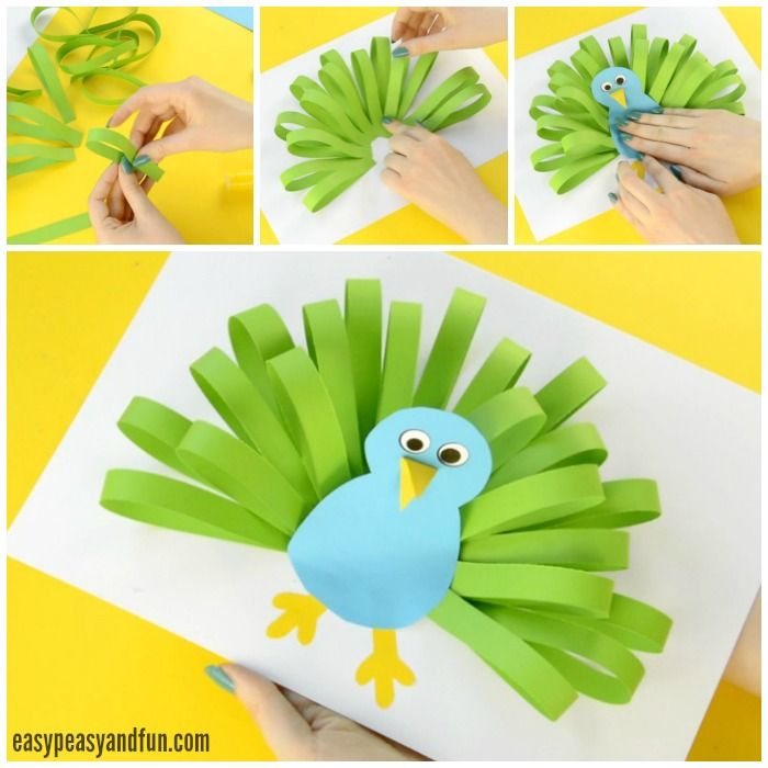 Paper Peacock Craft #craftsforkids