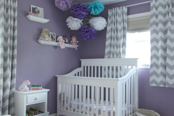 Purple Grey And Teal Nursery