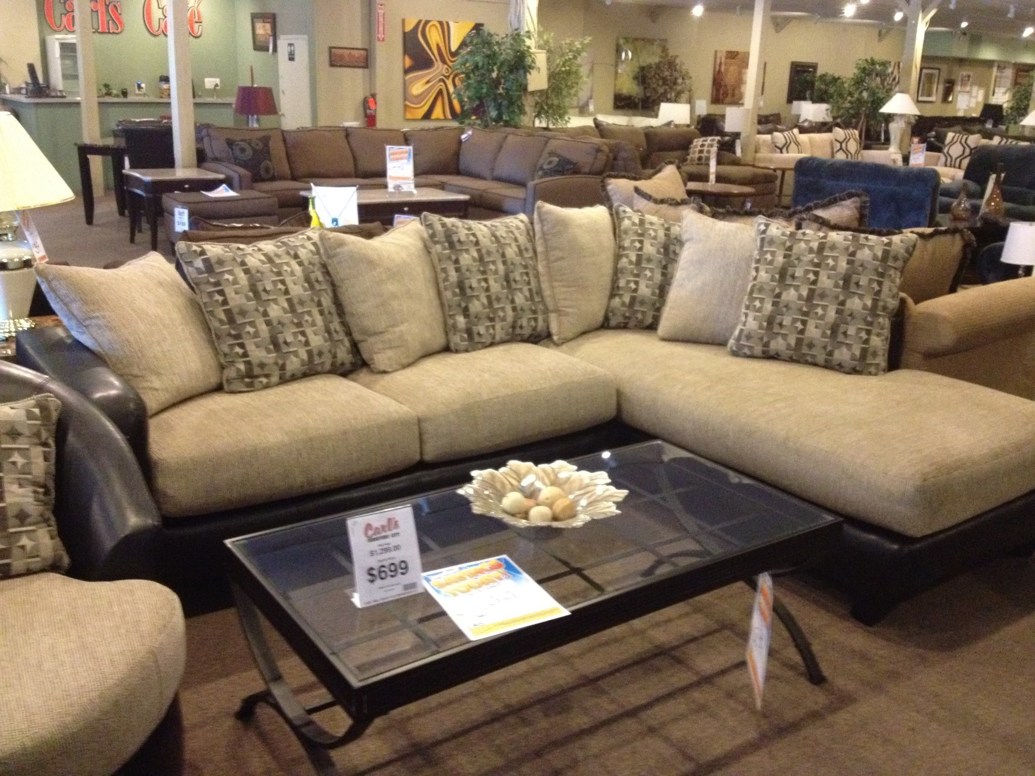 Here is the sectional that is $599 You can have the sectional or