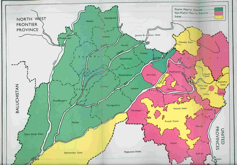 Political map of state punjab before 1947 google search maps of punjab buycottarizona Gallery