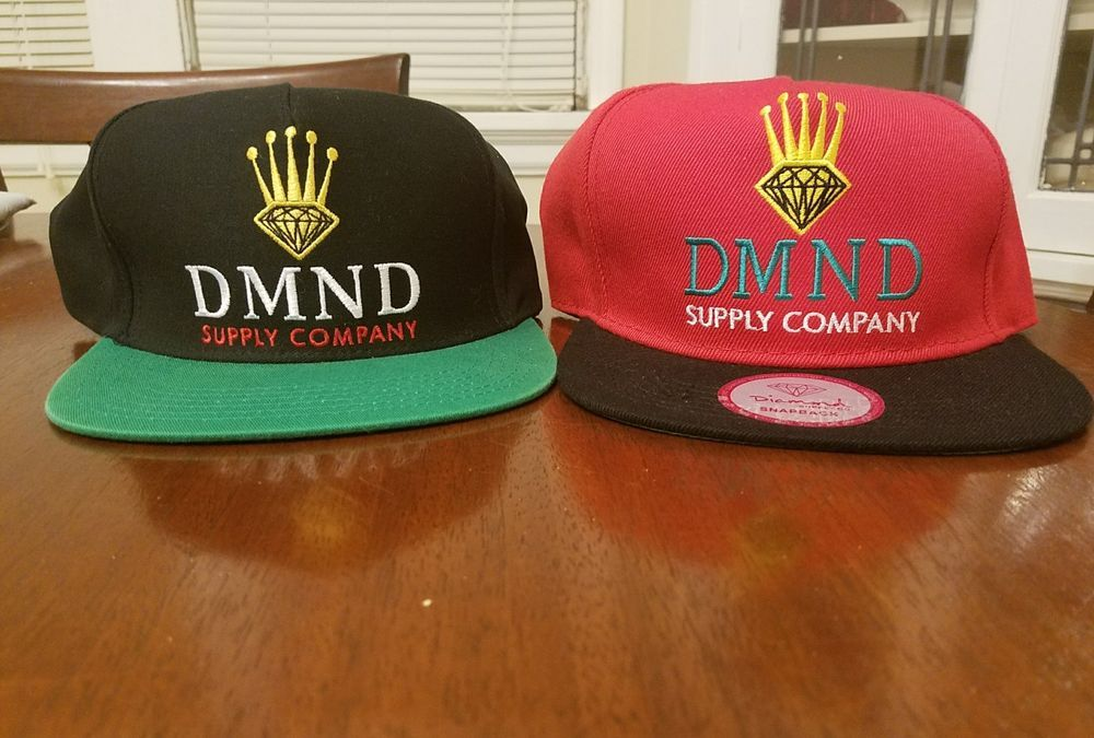 c5d3c1edbb5 Diamond Supply Co. DMND CROWN Black Red Green Snapback Cap Men s Hats Lot  of 2