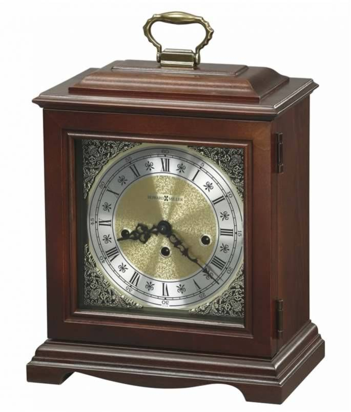 612437 Howard Miller Cherry Key Wound Fireplace Mantel Clock Graham This Graham Bracket Key Wound Chiming Mantel Clo Mantel Clock Mantel Clocks Howard Miller