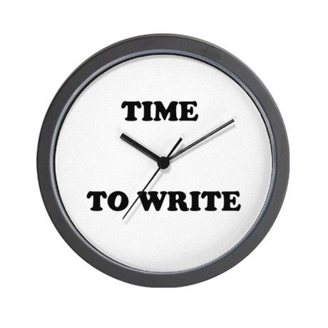 Time to Write Wall Clock for writers by WonderfulWorldOfWords ...