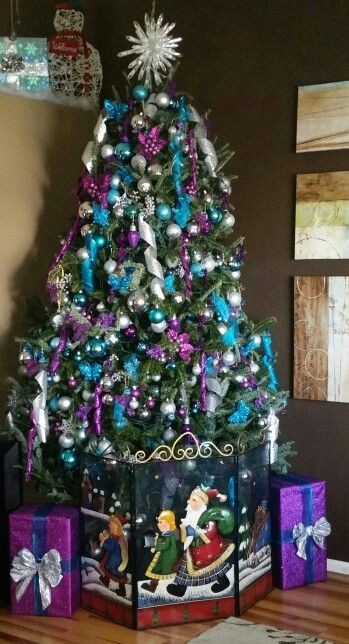 This is my baby and puppy proof Christmas tree gate! | Christmas ...