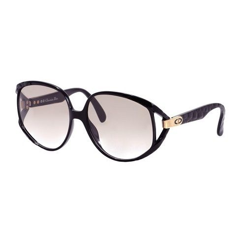 2167a12e1508 Vintage Christian Dior 2320 90 sunglasses in black Optyl with shaded very  light lenses. Very big feminine frame. Made in Germany in 1980s.
