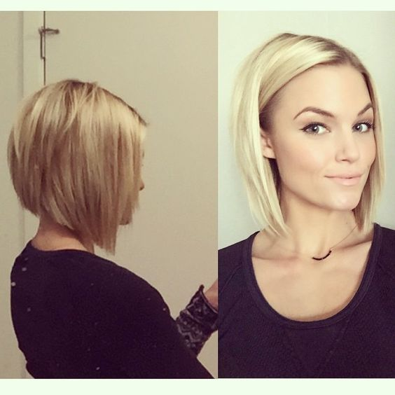 Long bob locken blond