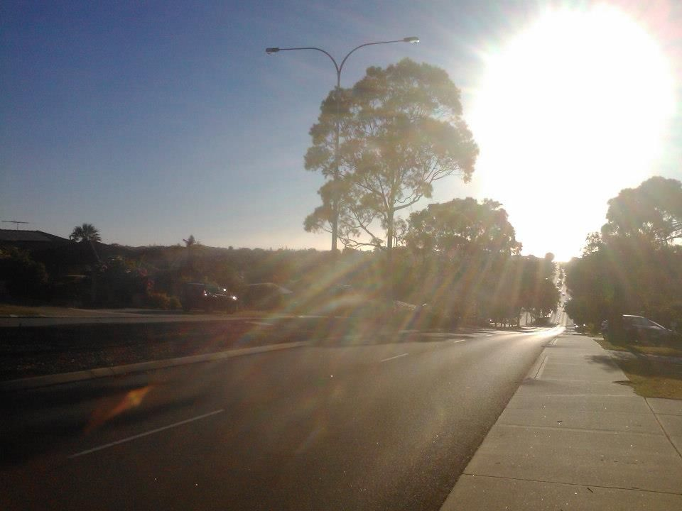 Looking west towards City Beach down Hale Rd, Wembley Downs Perth WA