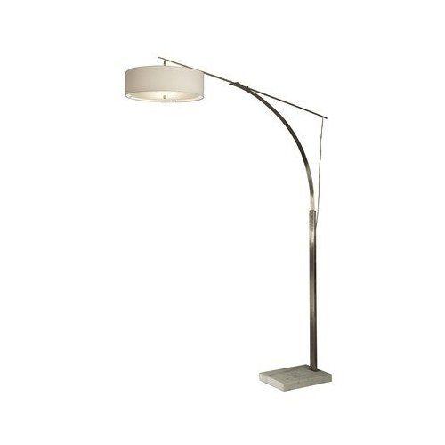 Nova Lighting 11137 2 Light Tangent Arc Floor Lamp Brushed Amazon Com