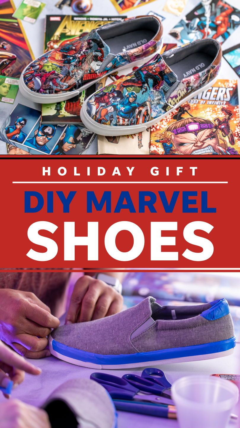 Turn your old Vans into Marvel shoes #comicbooks