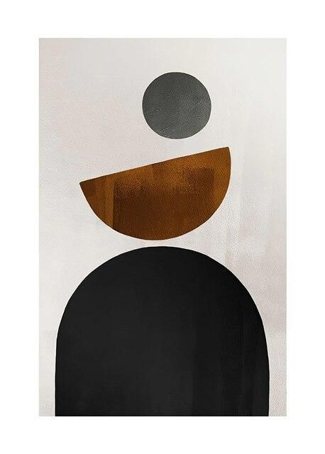 Photo of Scandinavian Still Life Geometry Abstract Picture Nordic Wall Art Canvas Painting Minimalist Posters and Prints for Home Decor – 13x18cm no frame / H