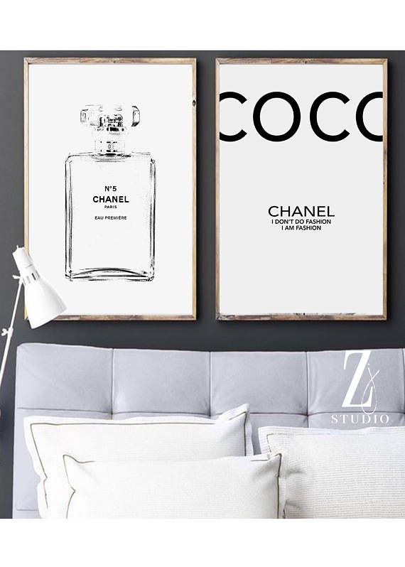 Chanel Art Printed Large Chanel Wall Art Coco Chanel Poster Chanel Wall Art Chanel Art Print Chanel Art