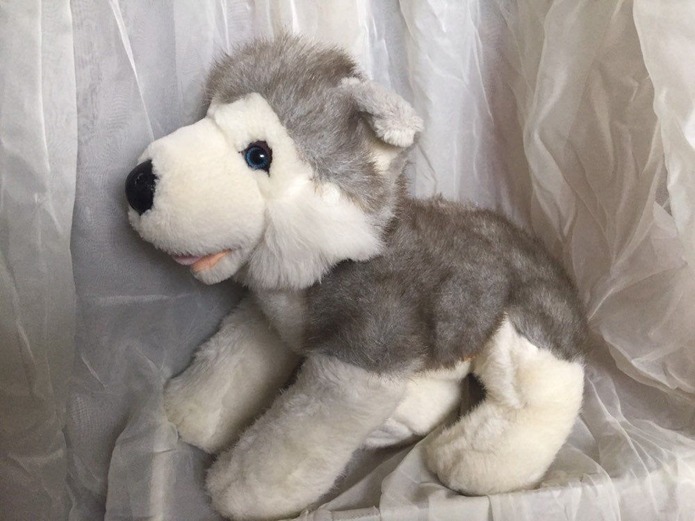 Build A Bear Workshop Husky Dog Grey Wolf Puppy Pet Plush Stuffed Animal Toy Retired Vintage By Vtgtreasureslan In 2020 Fluffy Puppies Wolf Puppy Plush Stuffed Animals