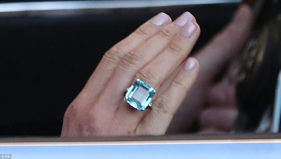 Princess Diana S Aquamarine Ring Worn By Meghan To Wedding