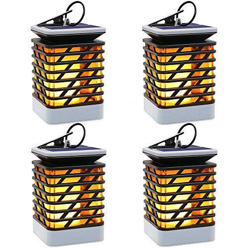 Solaire Lampe Exterieur Avec Flamme Lanterne Vacillante UzMVqSjpGL
