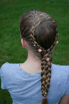 Woven Braid Into Dutch Lace Braids How To Video Tutorial Braided Hairstyles For Teens Braided Hairstyles Hair Styles