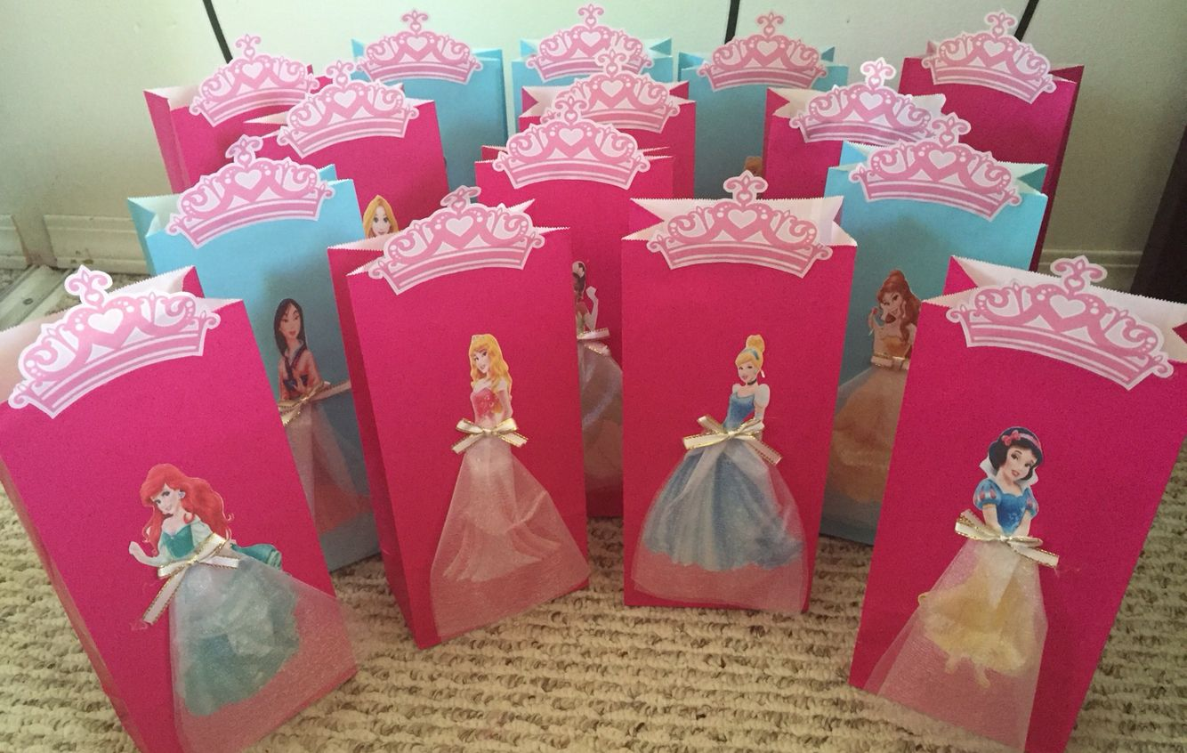 Princess Sofia Birthday Party Favors Goody Gift Candy Bags Loot Bolsas Regalos