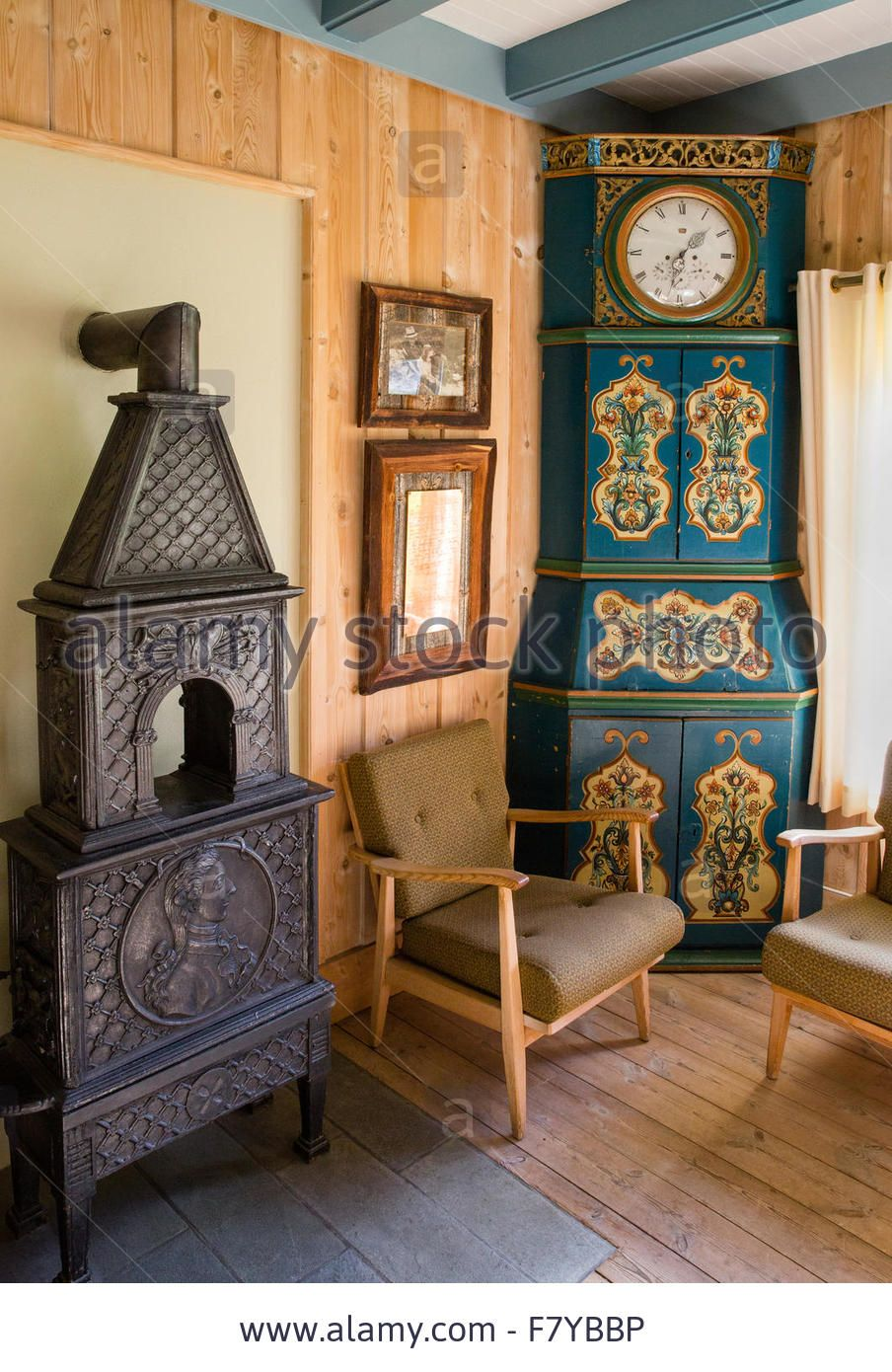 Stock Photo Elegant Scandinavian Interior Decorated With Antique Furniture At The Kongsvold Hotel In Oppl Scandinavian Interior Interior Decorating Furniture