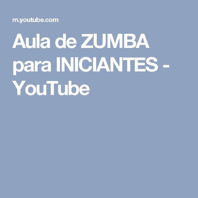 Aula de ZUMBA para INICIANTES - YouTube