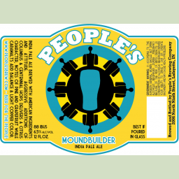 Moundbuilder IPA- People's Brewing- Lafayette, Indiana http://midwestbeerandwine.com/2013/05/28/notes-from-crown-beer-fest/