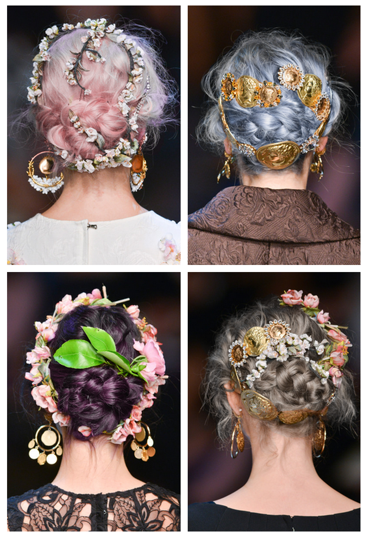 Dolce Gabbana Spring Summer 2014 Hair Details Catwalk Hair Runway Hair Hair Styles 2014