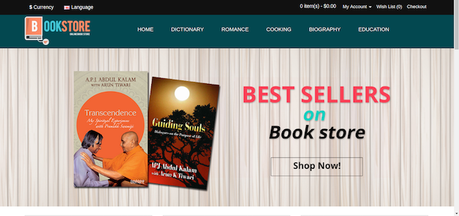 Premium eCommerce Template for online book store - #opencart #theme ...
