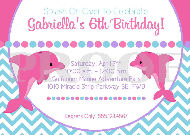 Printable pink dolphin birthday party invitation pink and purple new diy printable pink dolphin invitation i design you print 1200 filmwisefo