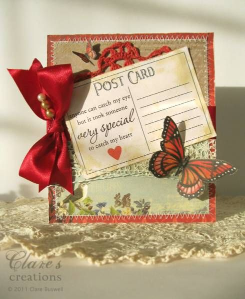 Butterfly Valentine Card by cbuswell  Cards and Paper Crafts at