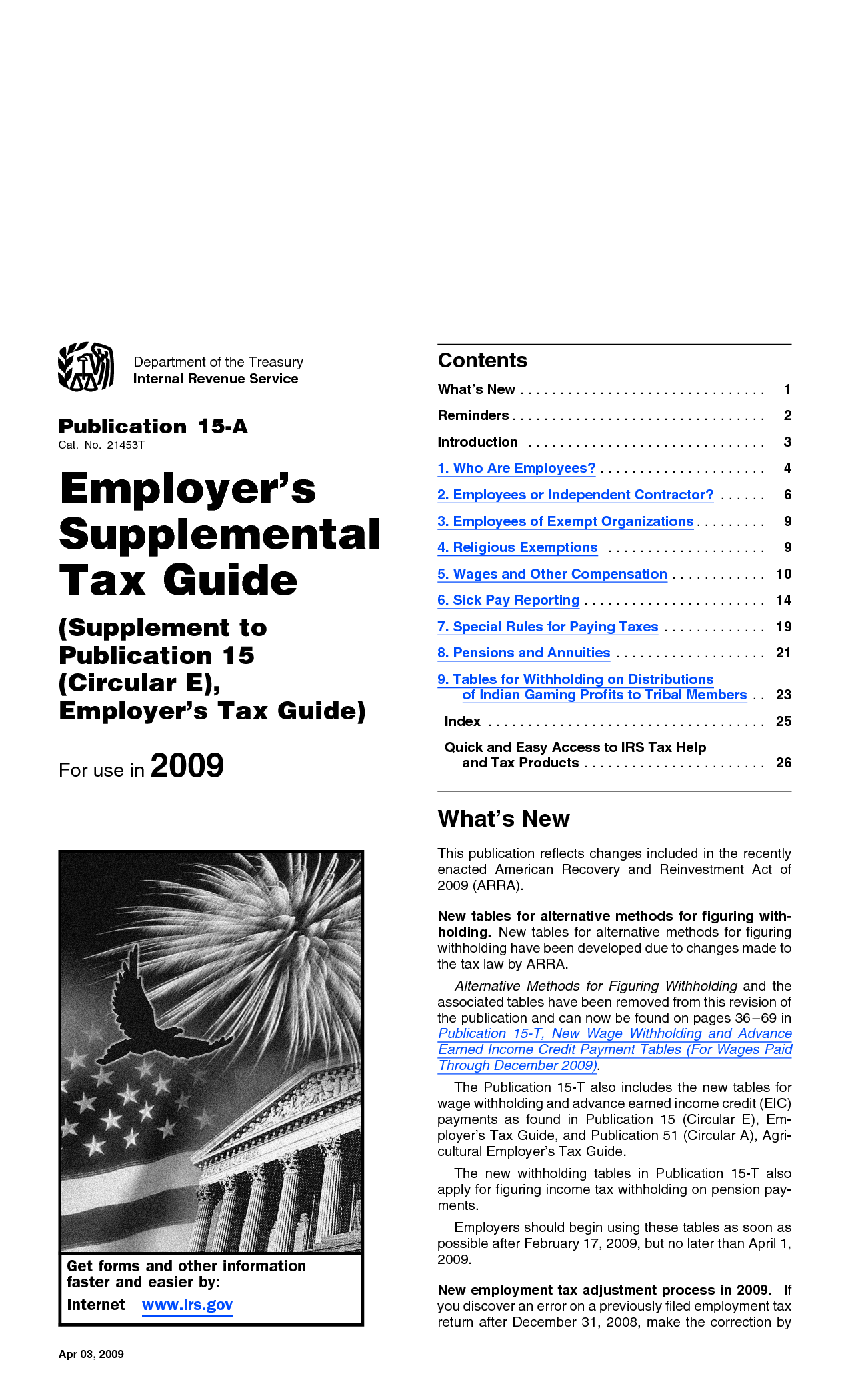 Supplement to Publication 15 (Circular E), Employer's Tax Guide - Google  Search