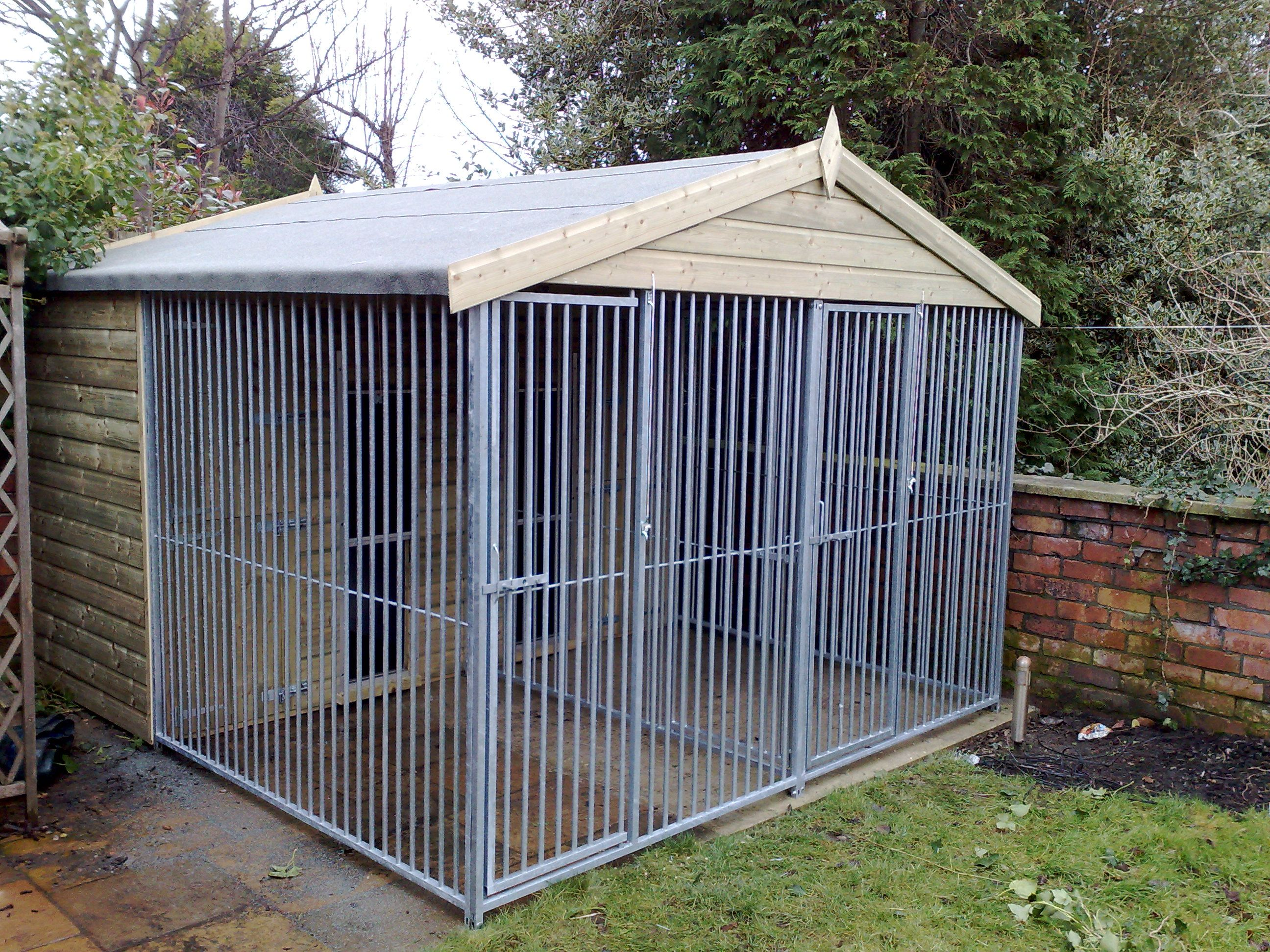 Pin By Boyds Bengals On Cat Enclosures Dog Kennel Outdoor Luxury Dog Kennels Dog Kennel Outdoor dog kennel roof ideas