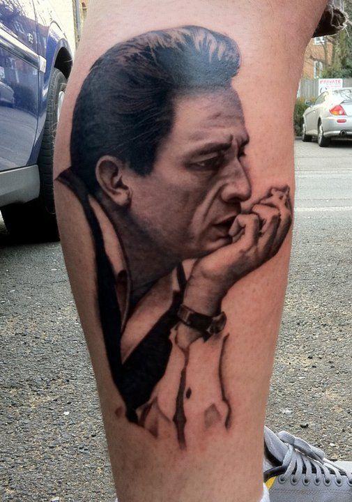 Johnny Cash Tattoo by David Corden   Johnny cash tattoo ...