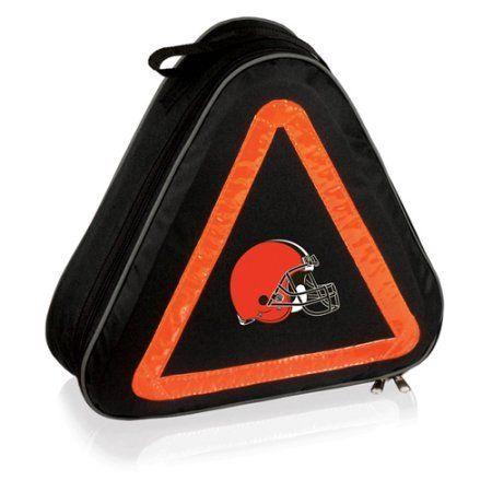 Picnic Time Roadside Emergency Kit, Cleveland Browns Digital Print, Black
