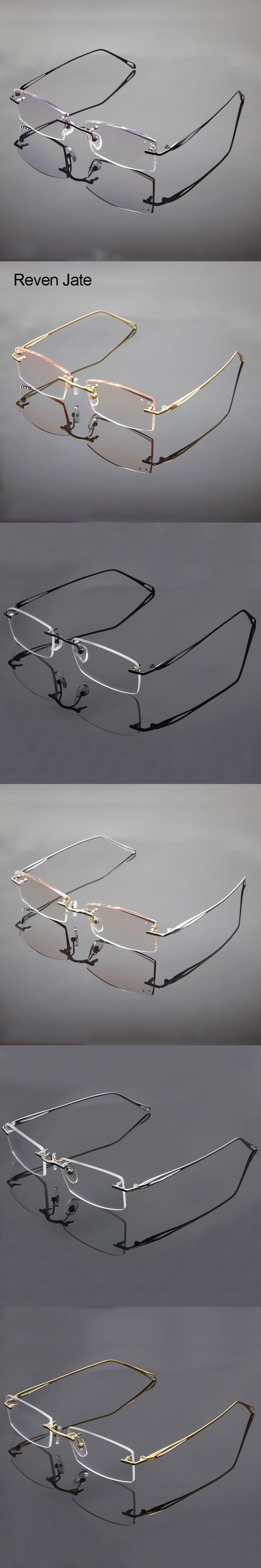 4ae7f7963ce Titanium Alloy Rimless Eyeglasses Frame 8156 Rimless Glasses Uncut Edge Men Frame  Glasses