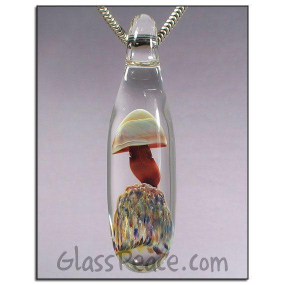 Sale red glass mushroom pendant boro lampwork necklace focal by sale red glass mushroom pendant boro lampwork necklace focal by glass peace 900 aloadofball Images